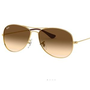 Ray-Ban 'Cockpit' Gold / Brown Gradient Sunglasses